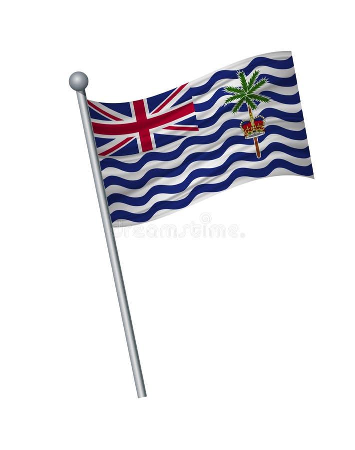 el agitar de la bandera en asta de bandera, colores oficiales y la proporción correctamente Aislante del ejemplo del vector en el libre illustration