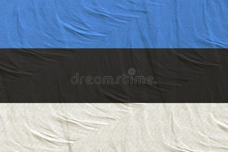 El agitar de la bandera de Estonia ilustración del vector
