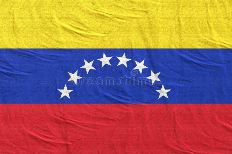 El agitar de la bandera de Venezuela imagenes de archivo