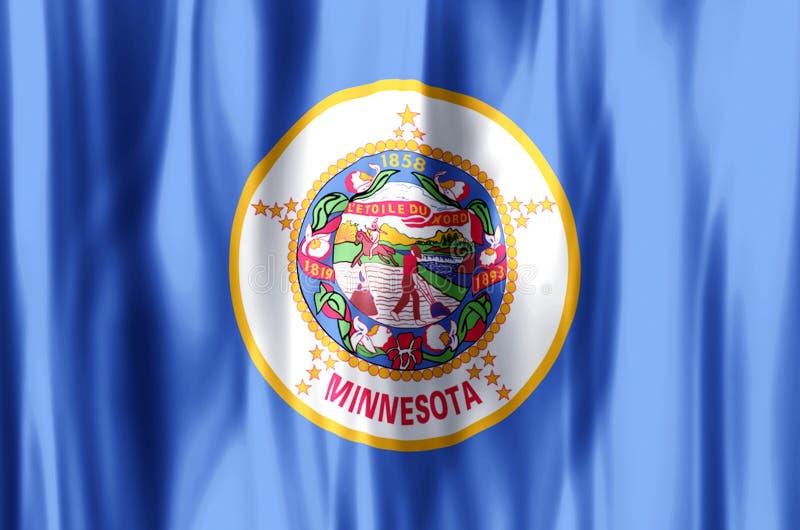 El agitar de Minnesota y ejemplo coloridos de la bandera del primer ilustración del vector