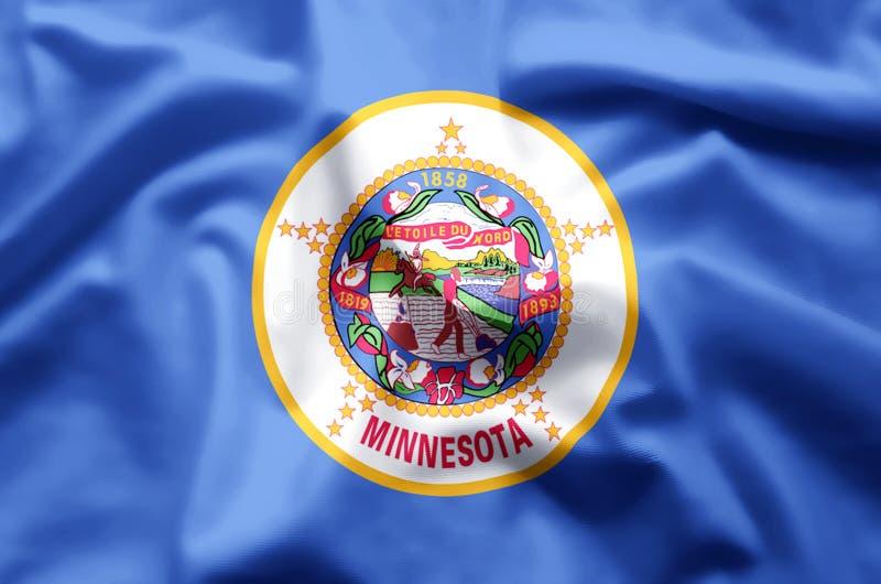 El agitar de Minnesota y ejemplo coloridos de la bandera del primer libre illustration