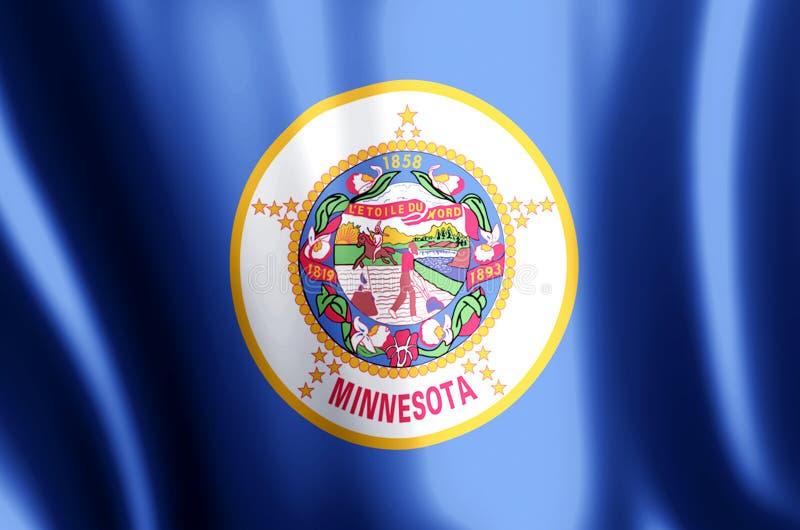 El agitar de Minnesota y ejemplo coloridos de la bandera del primer stock de ilustración