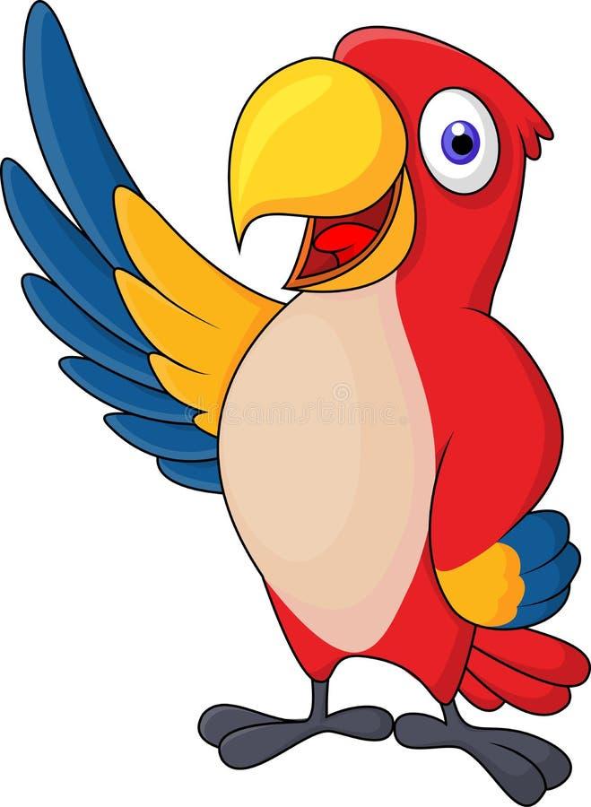 El agitar del cartón del pájaro del Macaw stock de ilustración