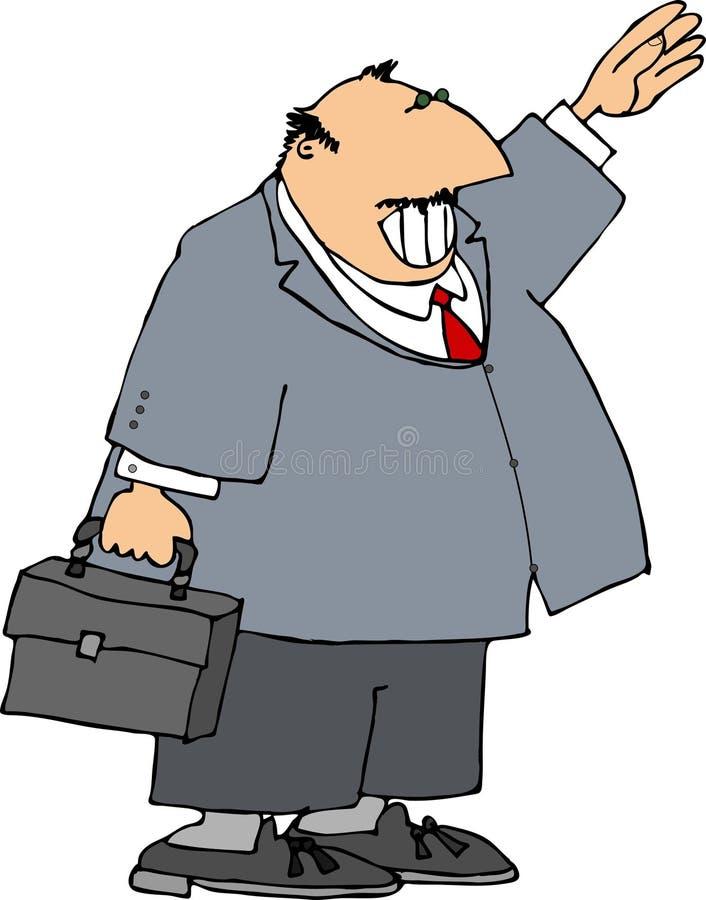 El agitar del hombre de negocios ilustración del vector