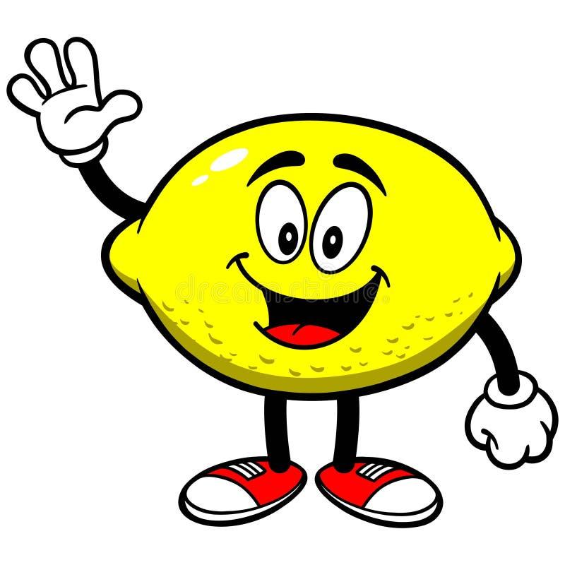 El agitar del limón ilustración del vector