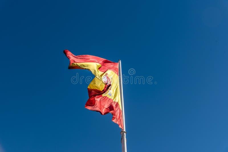 El agitar español de la bandera fotos de archivo libres de regalías