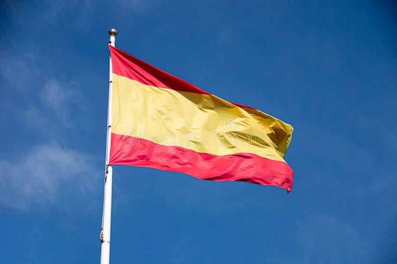 El agitar español de la bandera imágenes de archivo libres de regalías