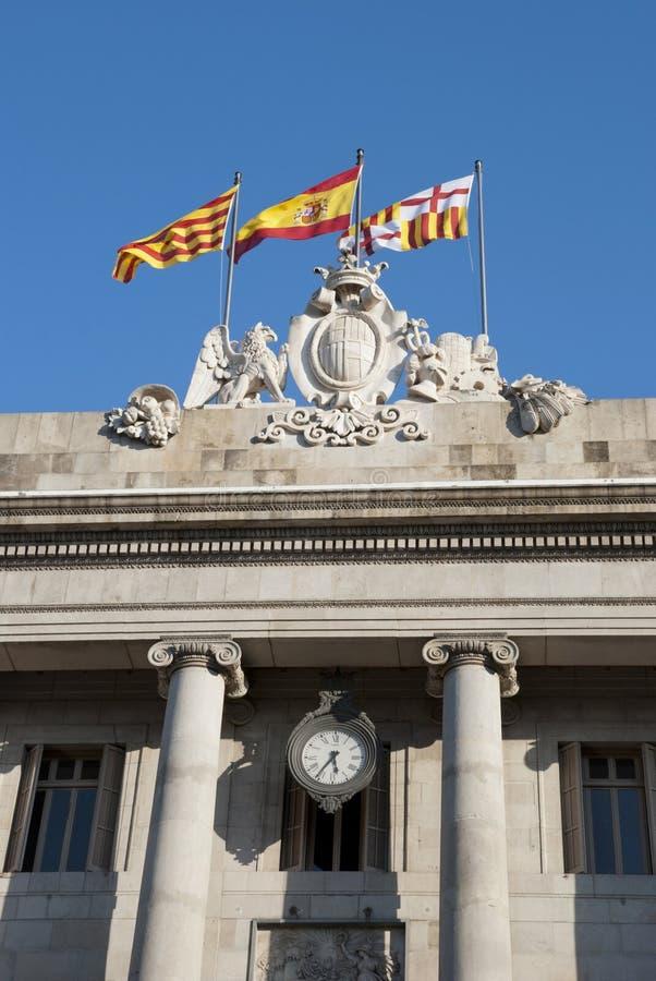 Bandera española y catalana fotos de archivo libres de regalías