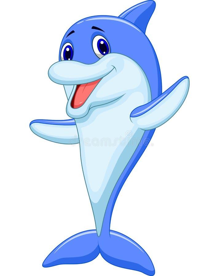El agitar lindo de la historieta del delfín libre illustration