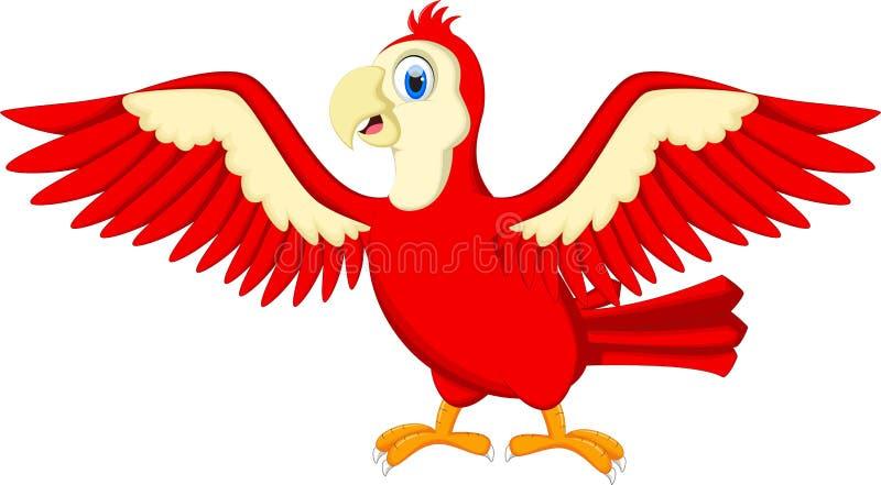 El agitar lindo del macaw de la historieta libre illustration