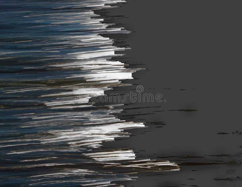 El agua abstracta se encuentra con la ilustración de la tierra imágenes de archivo libres de regalías