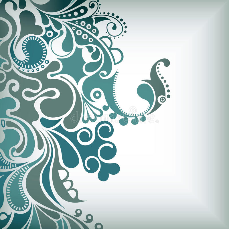 El agua burbujea fondo abstracto stock de ilustración