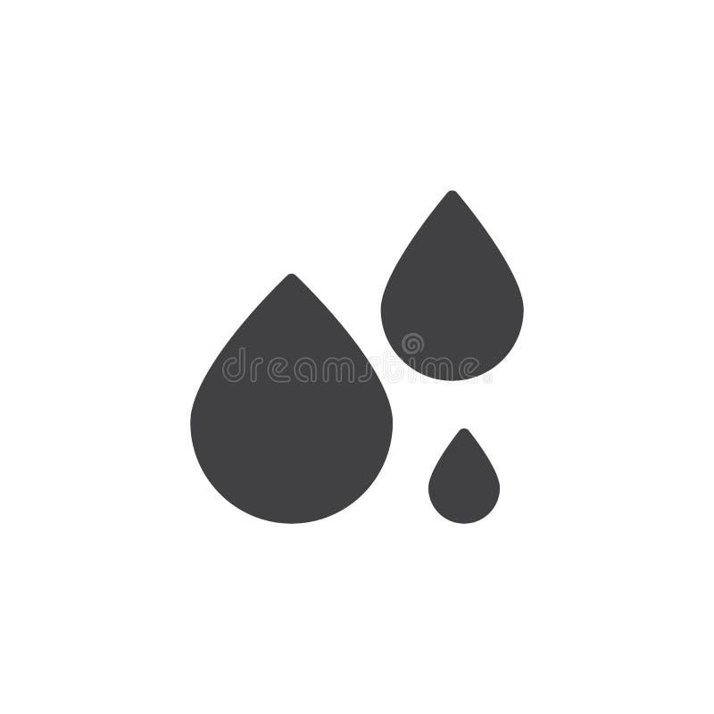 El agua cae el icono del vector stock de ilustración