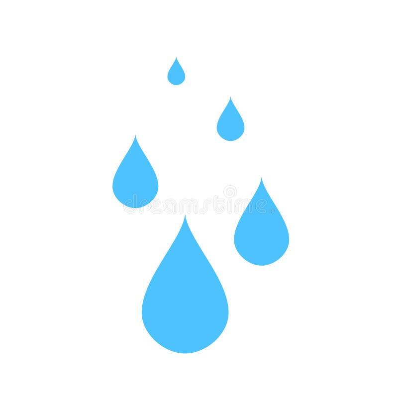 El agua del vector cae el ejemplo, icono de la naturaleza - gotas de agua del agua ilustración del vector