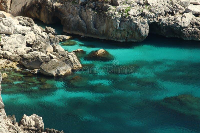 El agua excava Capri, Italia fotografía de archivo libre de regalías
