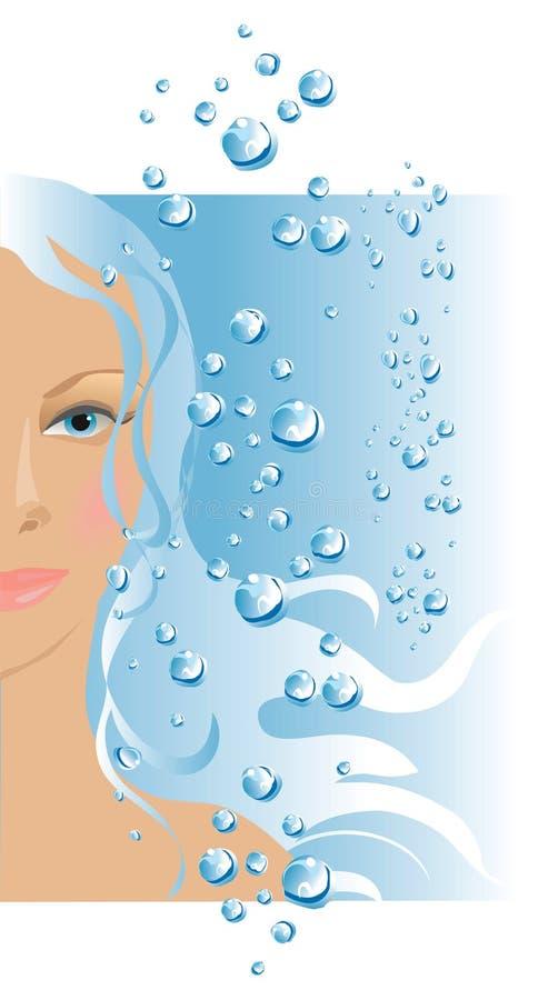El agua hace hermoso stock de ilustración
