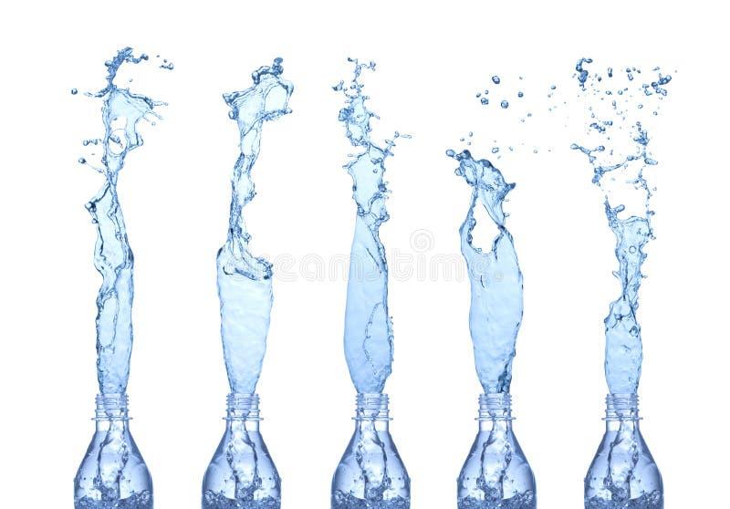 El agua salpica imagen de archivo