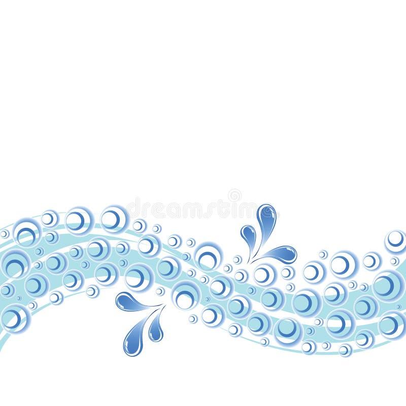 El agua salpica y burbujea stock de ilustración