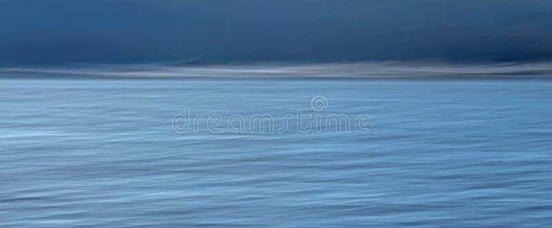 El agua se encuentra con el ICM abstracto del cielo foto de archivo libre de regalías
