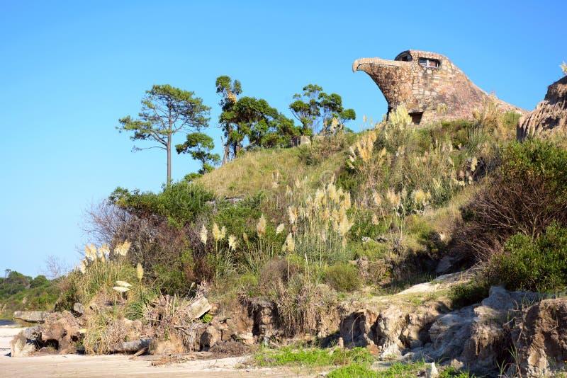 El Aguila全视图老鹰, Atlantida,乌拉圭 免版税库存图片