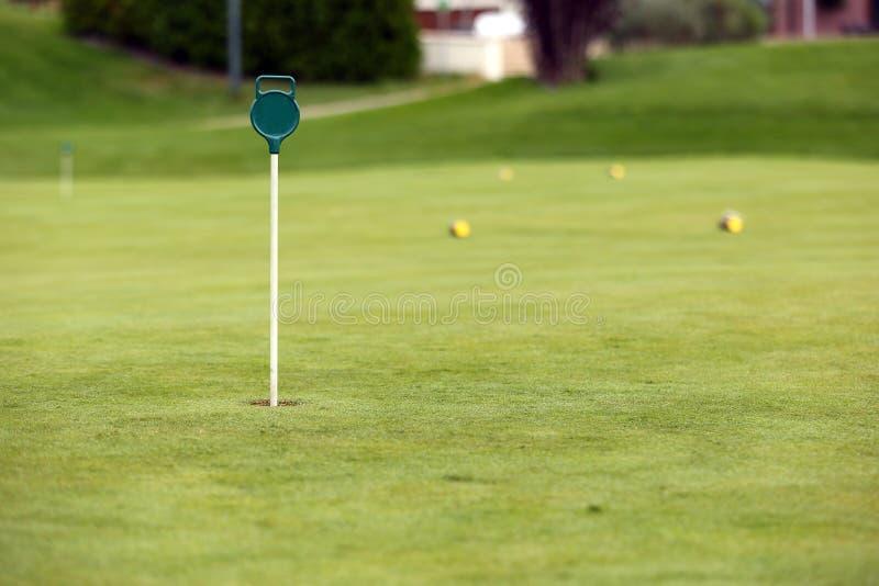 El agujero en mini-golf imágenes de archivo libres de regalías