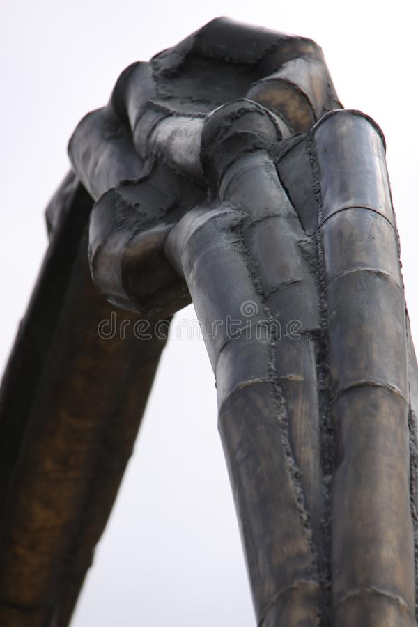 El aherrumbrar Art Sculpture moderno imagenes de archivo