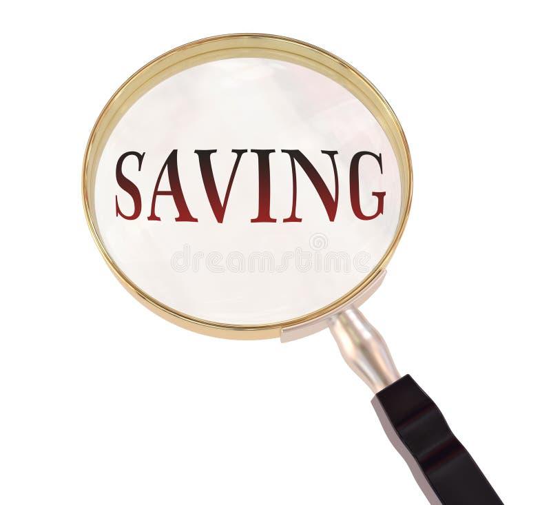 El ahorro magnifica stock de ilustración