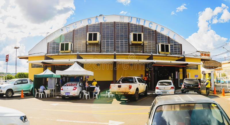 El aire libre del mercado popular llamó el Municipal de Mercadao imagen de archivo