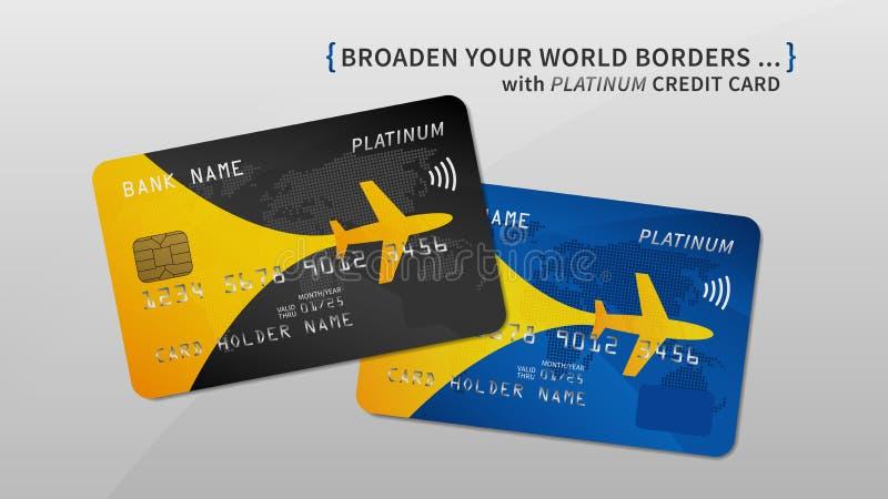 El aire recompensa el ejemplo del vector de la tarjeta de banco libre illustration