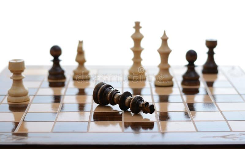 El ajedrez da para arriba fotos de archivo libres de regalías