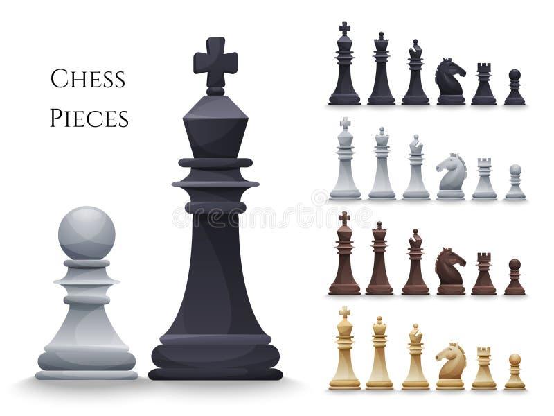 El ajedrez del vector figura el sistema grande ilustración del vector