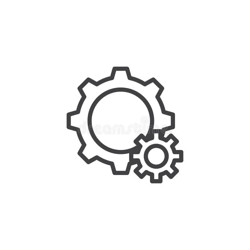 El ajuste adapta la línea icono stock de ilustración