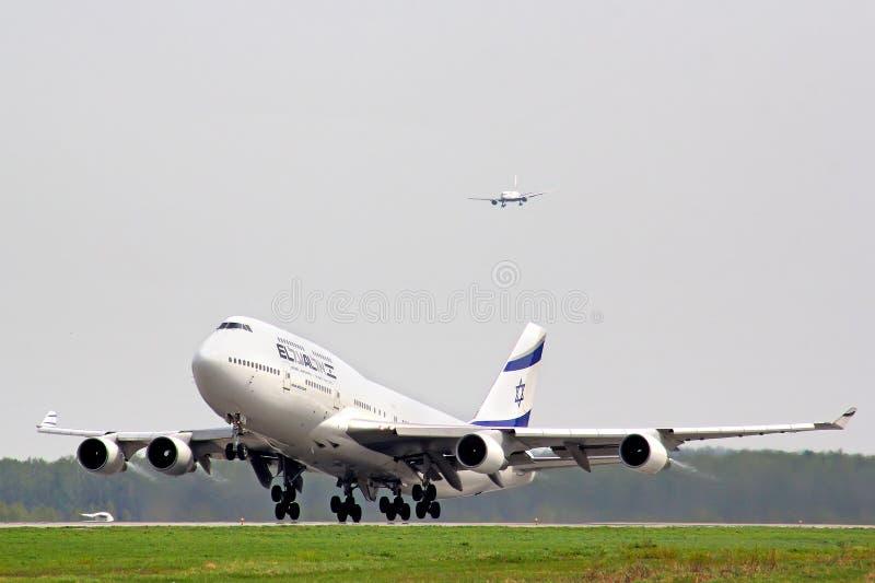 EL Al Boeing 747 photos libres de droits