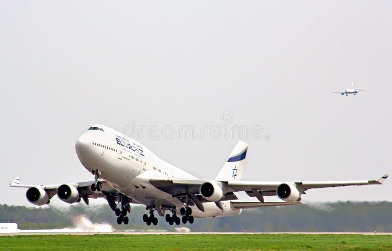 EL Al Boeing 747 photographie stock libre de droits