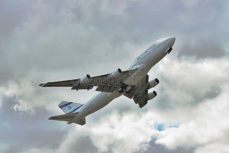 EL Al Boeing 747 fotografia de stock royalty free