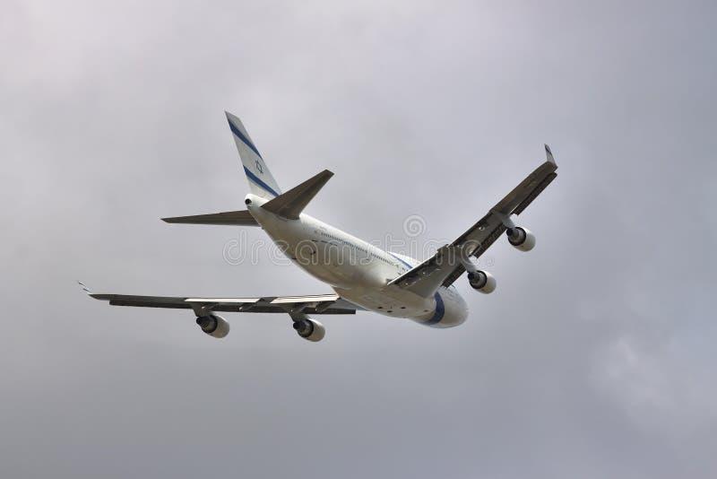 EL Al Boeing 747 foto de stock