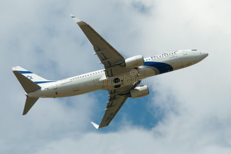 El Al Boeing-737 royalty free stock photo