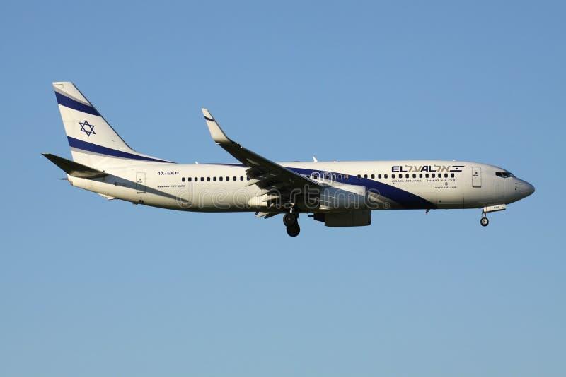 El Al Boeing 737-800 royalty free stock image