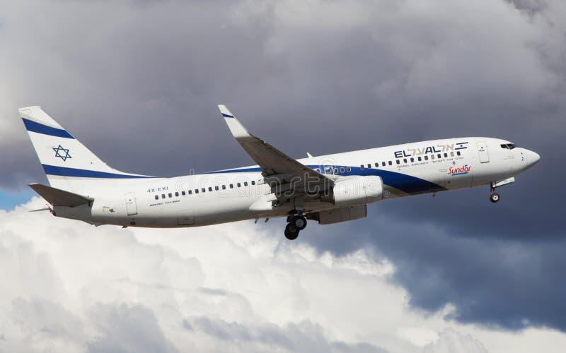 El Al Israel Airlines Boeing 737 stock image