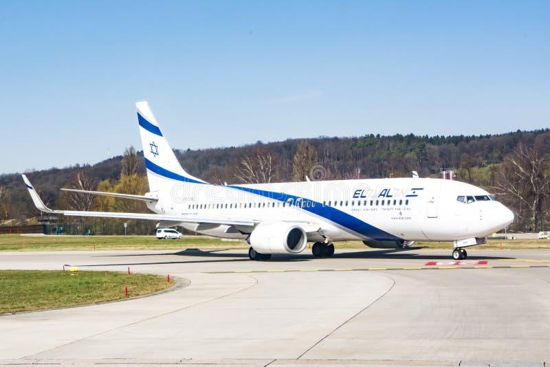 EL Al Israeli Airplane foto de stock royalty free