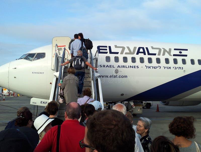Download El Al Plane editorial stock photo. Image of aviv, boarding - 44070883