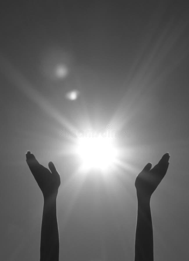 El alcanzar hacia fuera para el sol imagen de archivo libre de regalías