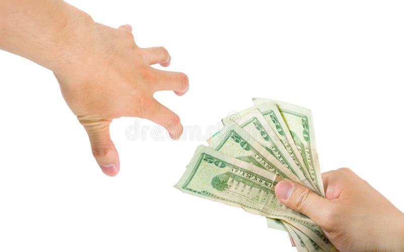 El alcanzar para el dinero fotografía de archivo
