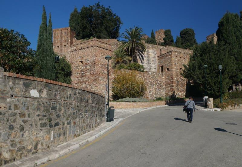 El Alcazaba, una fortaleza en la ciudad andaluz de Málaga, España fotos de archivo