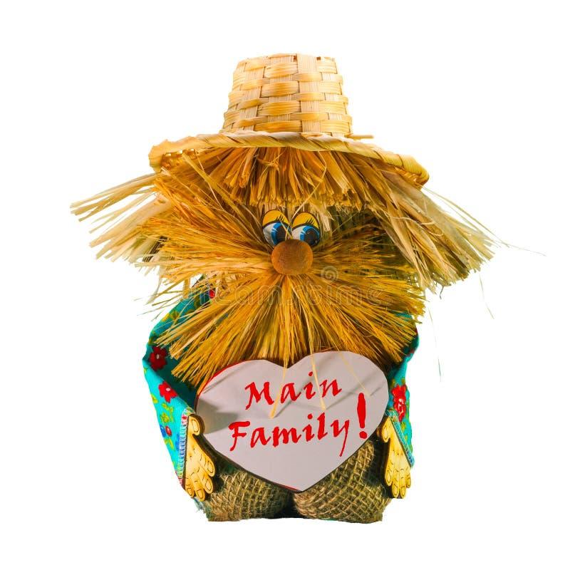 El alcohol casero - el encargado pide buenas relaciones de familia El elemento principal en la casa es la familia foto de archivo