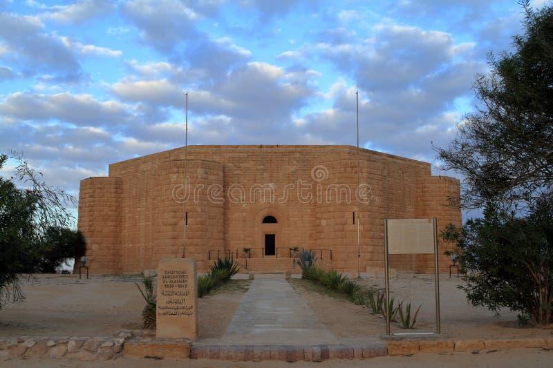 EL alemão Alamein do cemitério da guerra em Egito imagem de stock royalty free