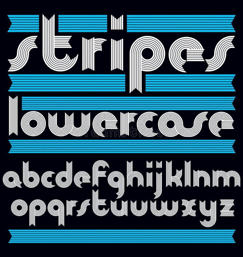 El alfabeto minúsculo moderno de moda del vector pone letras a la colección Clas libre illustration