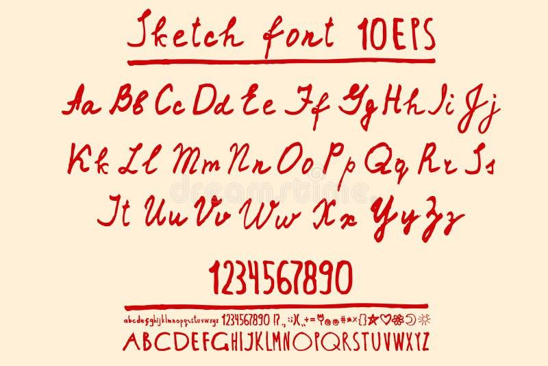 El alfabeto pone letras al mayúscula, minúsculo libre illustration