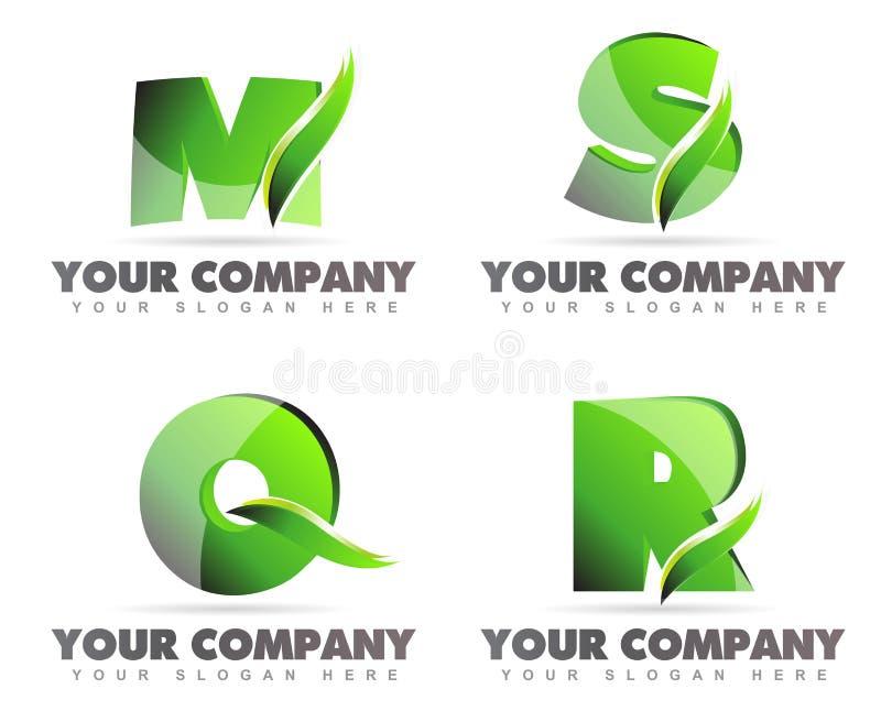 El alfabeto pone letras a iconos del logotipo stock de ilustración