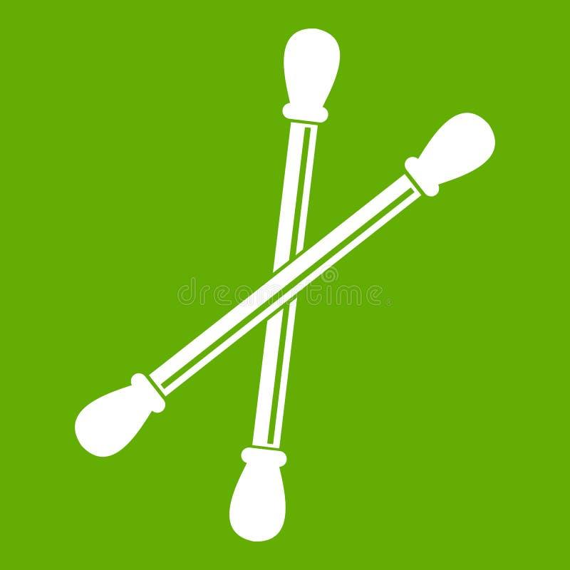 El algodón florece verde del icono stock de ilustración